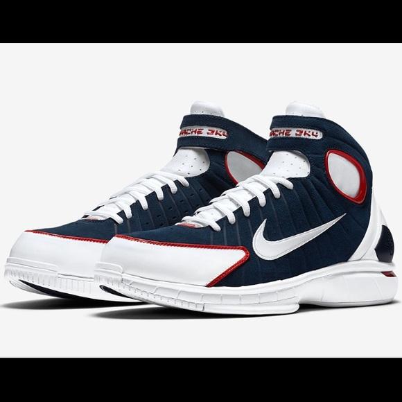 Nike Air Zoom Huarache 2K4 Navy Blue White Red 11